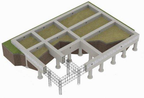 Ленточный бетонированный армированный фундамент 2