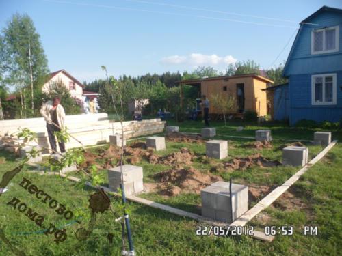 Столбчатый фундамент дома 4