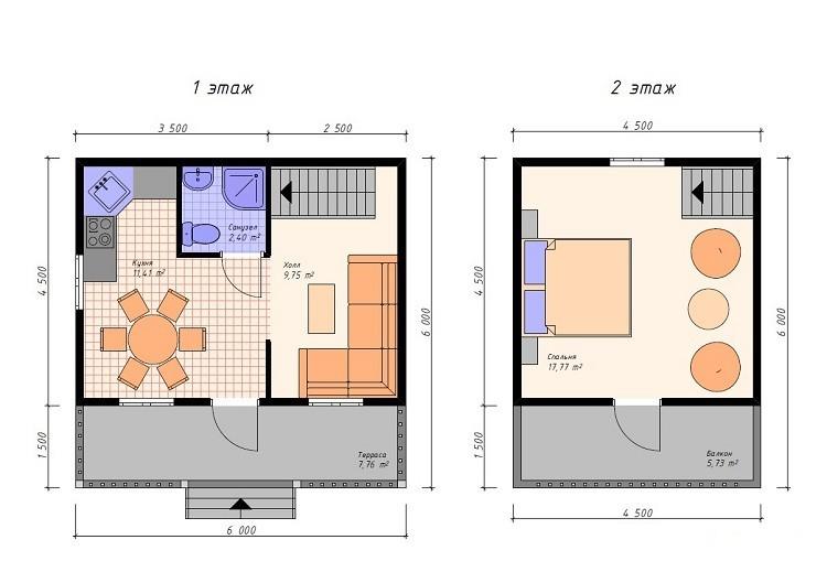 каркасный дом проект цена