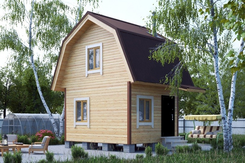 каркасный дачный дом под ключ спб