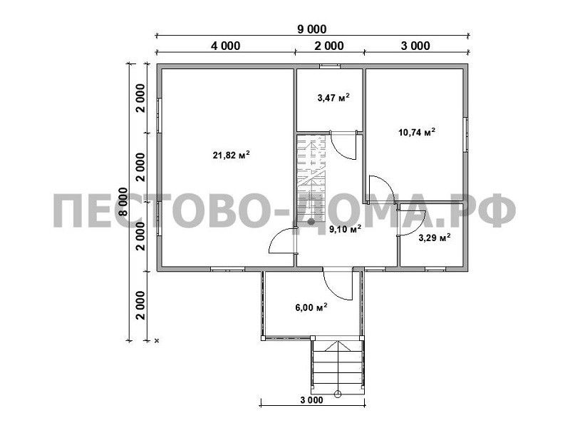 Каркасный дом К-3 под ключ-6