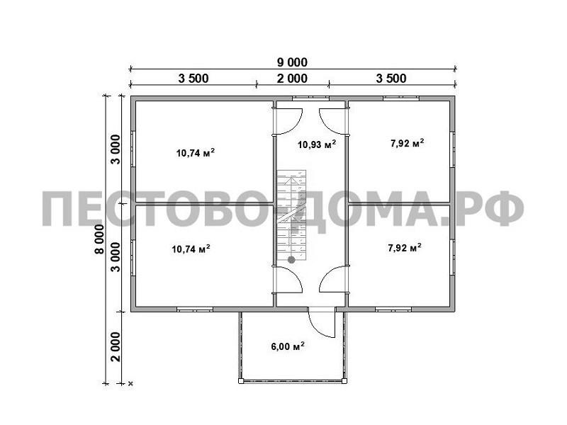 Каркасный дом К-3 под ключ-7