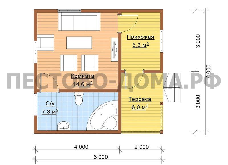 Каркасный дом К-19 под ключ