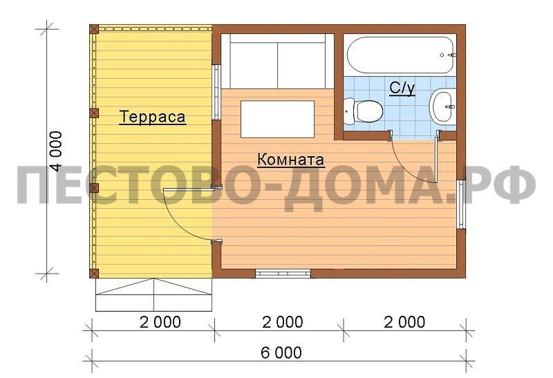 Каркасный дом К-21 под ключ