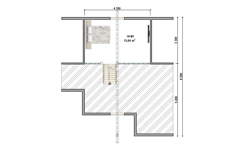 Каркасный дом К-30 под ключ